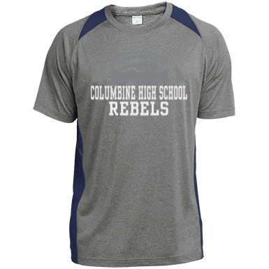 Columbine High School Mens Performance Colorblock Tee
