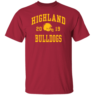 Highland high school custom apparel and merchandise for T shirt printing in palmdale ca