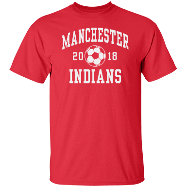 Manchester high school indians custom apparel and for Custom t shirts manchester ct