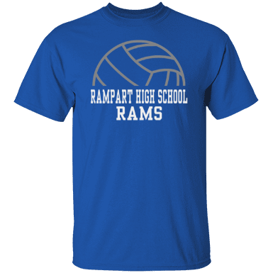 Rampart high school custom apparel and merchandise for T shirt printing in colorado springs