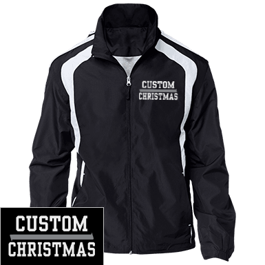 colorblock polyester jersey lined jacket - Christmas Jackets