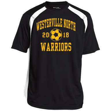 Westerville north high school mens performance colorblock for T shirt printing westerville ohio