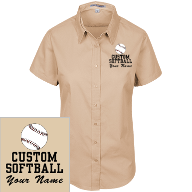 Softball Casual Woven Shirts Custom Apparel and Merchandise