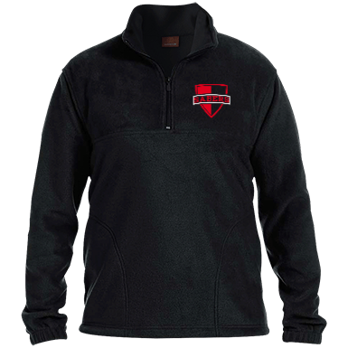 embroidered 14 zip fleece pullover 4395