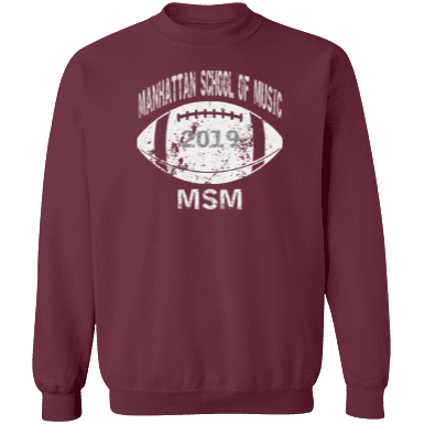 Manhattan School Of Music Sweatshirts Custom Apparel and Merchandise ... 1e0d4273a27