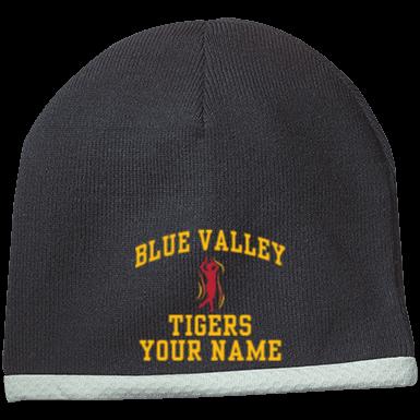 BV TIGERS BLUE VALLEY HIGH SCHOOL MENS BASEBALL HAT CAP ADJUSTABLE NEW