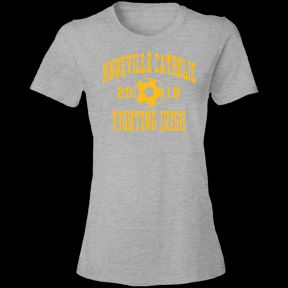 Knoxville Catholic High School Anvil Womens Lightweight Tshirt 45