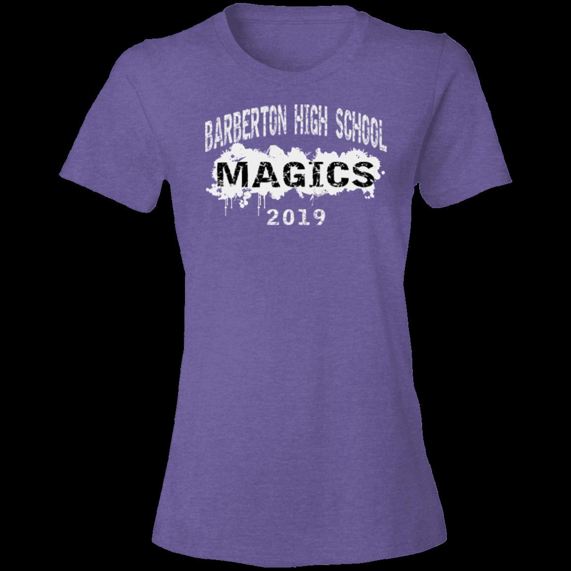 Barberton High School Anvil Womens Lightweight Tshirt 45 Oz