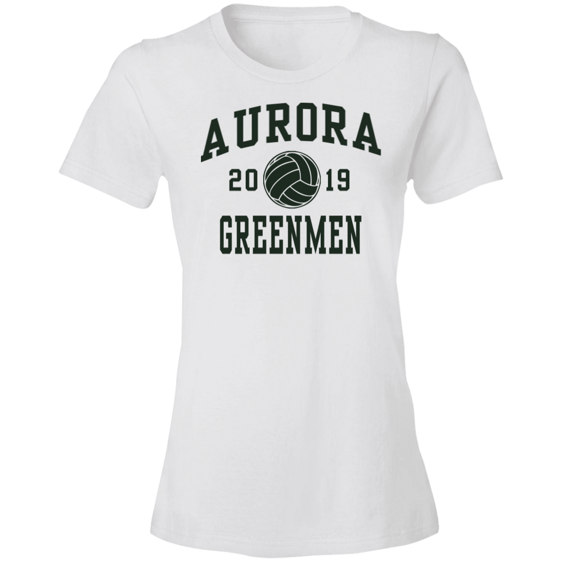 Aurora High School Anvil Womens Lightweight Tshirt 45 Oz
