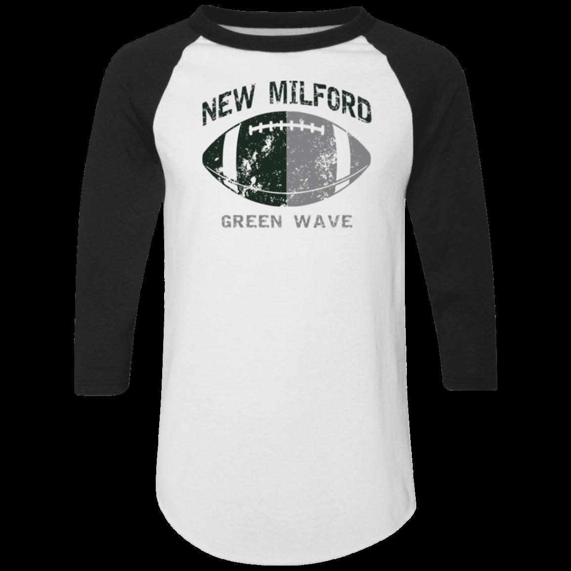 116094e29f7b New Milford High School Adult Colorblock Raglan Jersey - SpiritShop.com