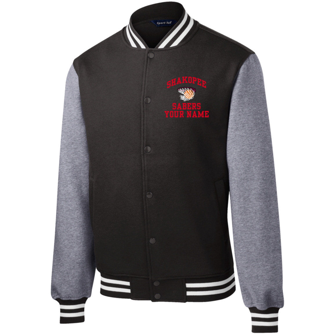 shakopee high school fleece letterman jacket jostens school stores