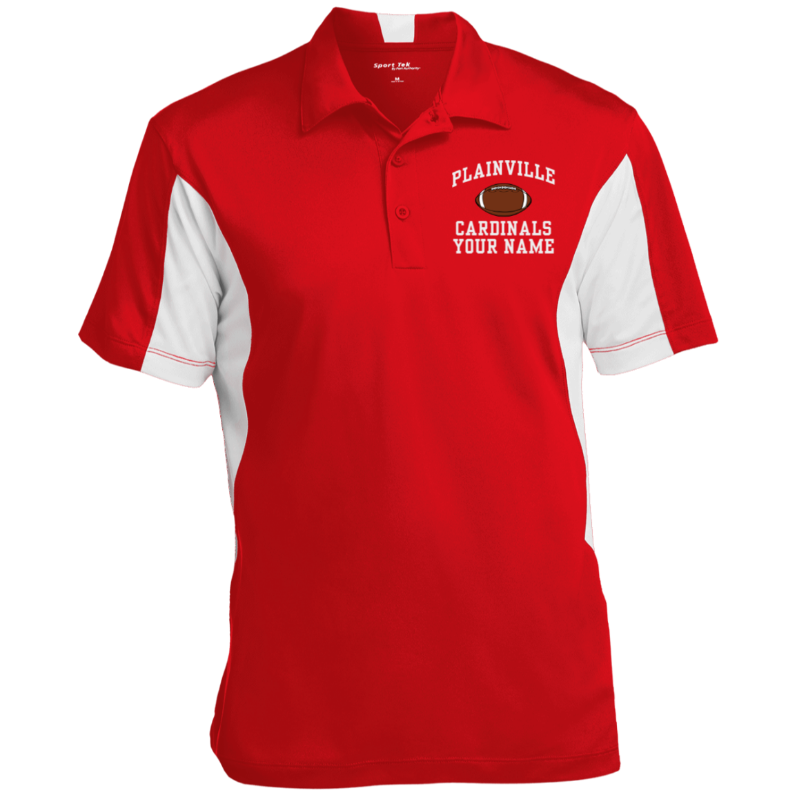 Plainville High School Mens Colorblock Performance Polo