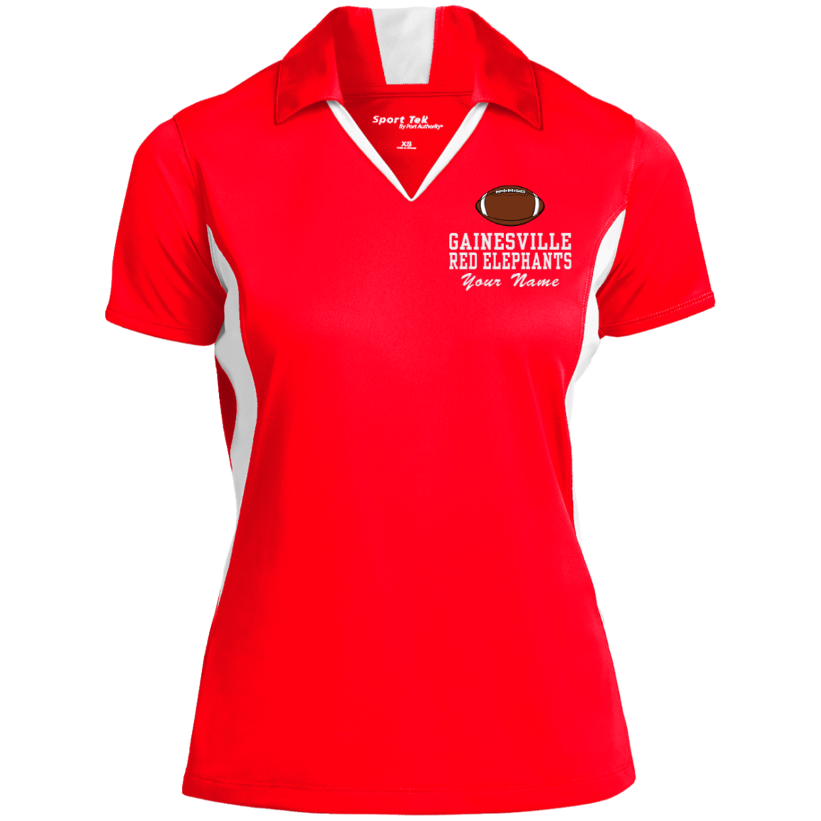Gainesville High School Womens Colorblock Performance Polo