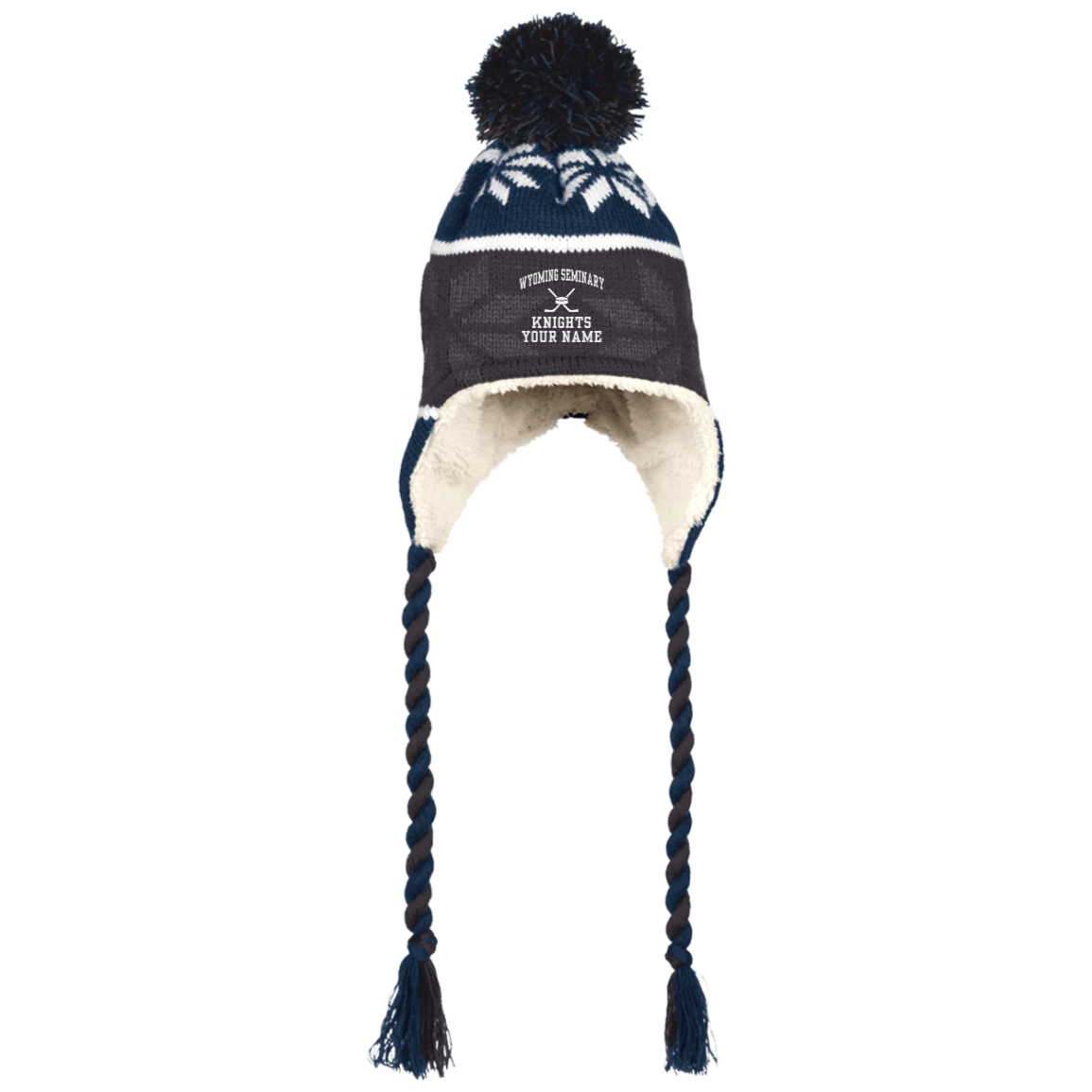 Hat with Ear Flaps and Braids